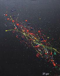 Dunkel, Abstrakte kunst, Abstrakt, Gelb