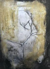 Schwarz, Baum, Collage, Gedanken