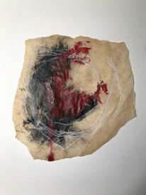 Abstrakt, Surreal, Rot, Mischtechnik