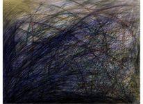Acrylmalerei, Abstrakt, Kugelschreiber, Aquarellmalerei