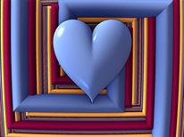Liebe, Digital, Herz, Farben