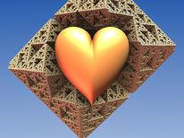 Herz, Digital, Utopie, Minimalistisch