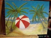 Wasser, Strand, Sonnenschirm, Natur
