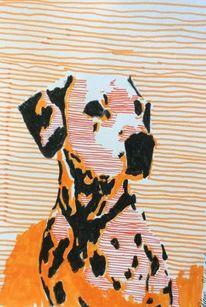 Dalmatiner, Abstrakt, Hund, Portrait