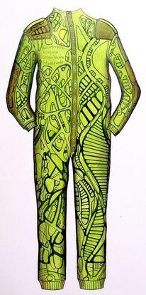 Erschreckende farben, Motorrad, Anzug, Design