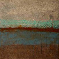 Grau, Braun, Malerei, Abstrakt