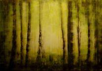 Grün, Malerei, Wald, Landschaft