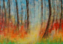 Wald, Frühling, Malerei