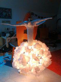 Lampe, Licht, Pappmaché, Baum