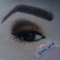 Augen, Augenbraue, Zeichnung, Zeichnungen