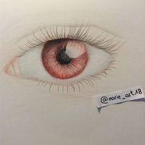 Menschen, Rot schwarz, Augen, Zeichnungen
