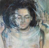 Malerei, Wasser, Frau, Figural