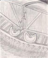 Abstrakt, Bahn, Metall, Zeichnung