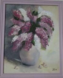 Blumen, Lila, Ölmalerei, Malerei