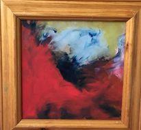 Blau, Rot schwarz, Malerei