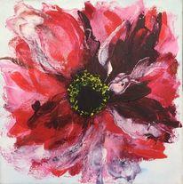 Weiß, Nelke, Rot, Malerei