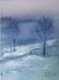 Winter, Blau, Baum, Weiß