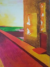 Abstrakt, Straße, Sonne, Struktur
