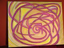 Abstrakt, Acryl auf leinwand, Naturfarben, Malerei