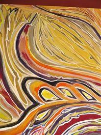 Naturfarben, Entstehung, Konzeption, Acrylmalerei
