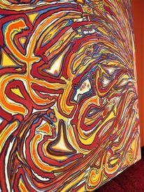 Vogel hermes, Naturfarben, Farn wald, Acrylmalerei