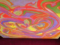 Abstrakt, Acrylmalerei, Liebespaar, Seele
