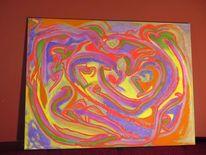 Zwillingsflamme, Acrylmalerei, Manifestation, 2017