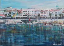 Mallorca, Landschaftsmalerei, Hafen, Landschaft