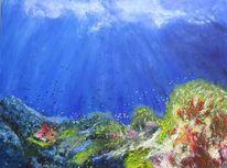 Tauchen, Gemälde, Ozean, Unterwasser