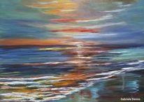 Meer, Monaco, Ostsee, Sonnenuntergang