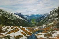 Stubaier höhenweg tirol, Zeitgenössisch, Landschaft, Landschaftsmalerei