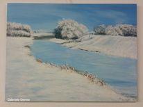 Eis, Landschaft, Schnee, Fluss