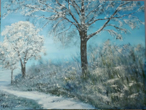 Winterlandschaft, Landschaftsmalerei, Winter, Schnee