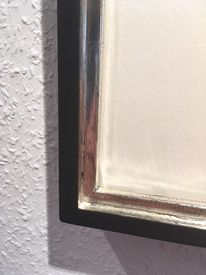 Rahmen, Holz, Silber, Pinnwand