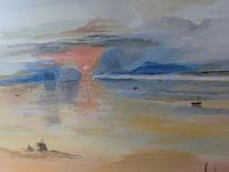 Boot, Wolken, Motiv william turner, Englischer kunstmaler
