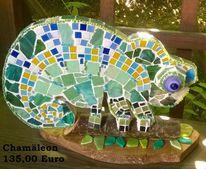 Mosaik, Chamäleon, Äste, Kunsthandwerk