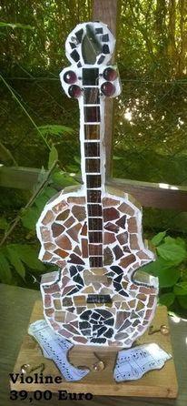 Holz, Violine, Mosaik, Kunsthandwerk