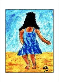 Ölmalerei, Himmel, Kleid, Sand