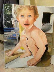 Fotorealismus, Malerei, Hyperrealismus, Junge