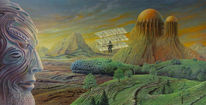 Malerei, Landschaft, Surreal, Fantasie