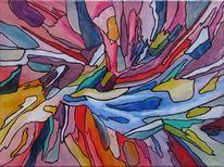 Abstrakt, Modern, Zeitgenössisch, Acrylmalerei