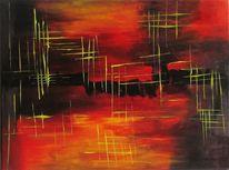 Zeitgenössisch, Acrylmalerei, Malerei, Moderne kunst