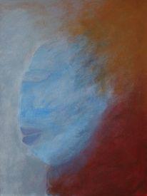 Surreal, Kopf, Acrylmalerei, Malerei