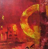 Gelb, Fantasie, Abstrakt, Rot