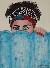 Frau, Menschen, Gesicht, Malerei