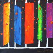 Bunt, Kugel, Fantasie, Malerei
