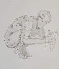 Skulptur, Zeichenstudie, Zeichnung, Zeichnungen