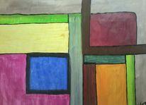 Fenster, Bunt, Malerei,