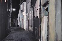 Stadt, Heidelberg, Nacht, Altstadt