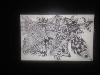 Interpretation, Abstrakt, Kugelschreiber, Zeichnungen